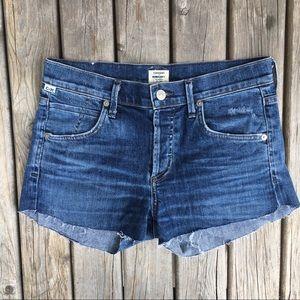 COH Elsa Mid Rise Slim Fit Crop Shorts